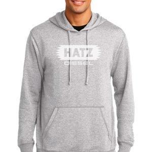 Gray hoodie.
